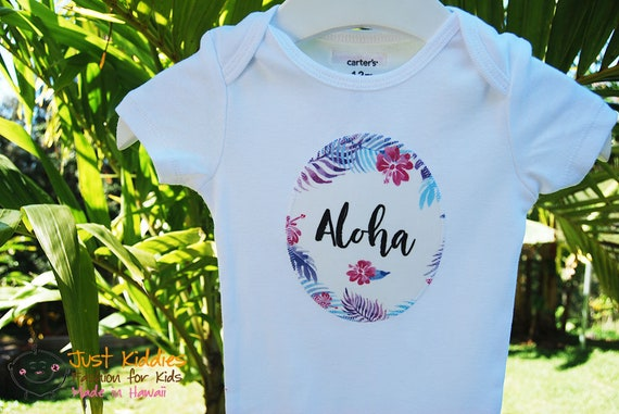 Onesie * ALOHA * Applique * Bodysuit * Baby Gift * Customized * Newborn