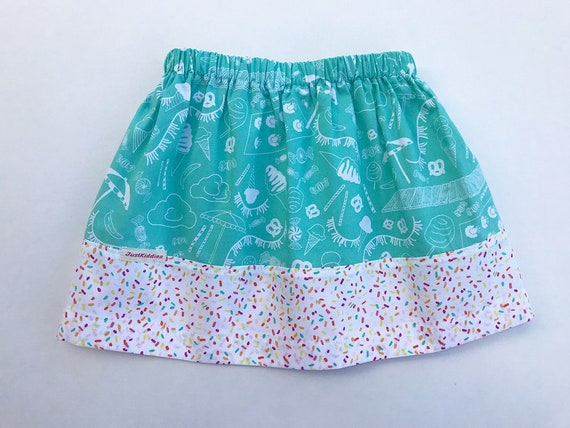 Skirt, Beach + Sprinkles Skirt, Turquoise, Cotton