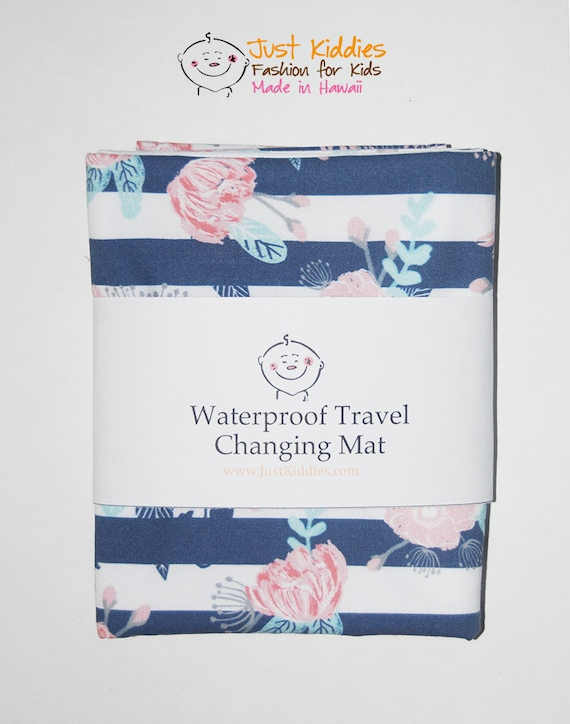 Changing mat, changing pad, travel changing mat, diaper changing, nappy, waterproof changing mat, boho flowers, kona cotton