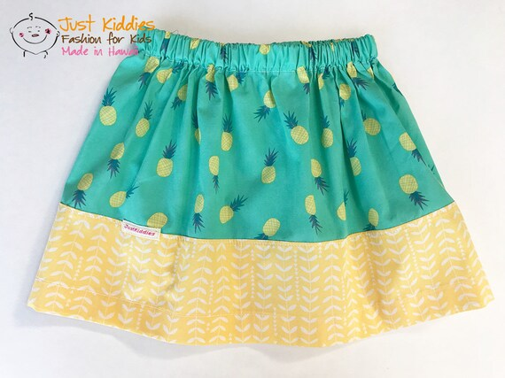 Skirt, Pineapple Skirt, Pineapple, Cotton