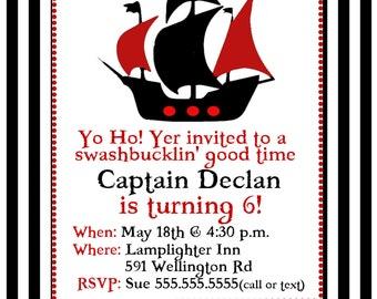 Customizable Pirate Invite