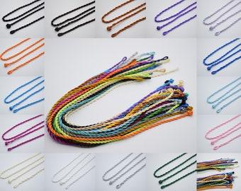 50cm length Jewellery Making Soft Habotai Silk String//Cord 5mm Choose Colour