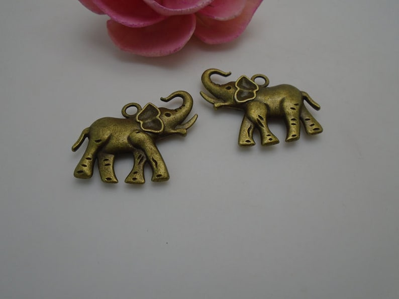 2 colors for choice---50 pieces 32mmx31mm metal elephant charmpendant for jewelry