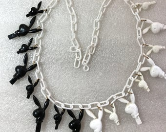 """Vintage early plastic  """"playboy"""" necklace"""