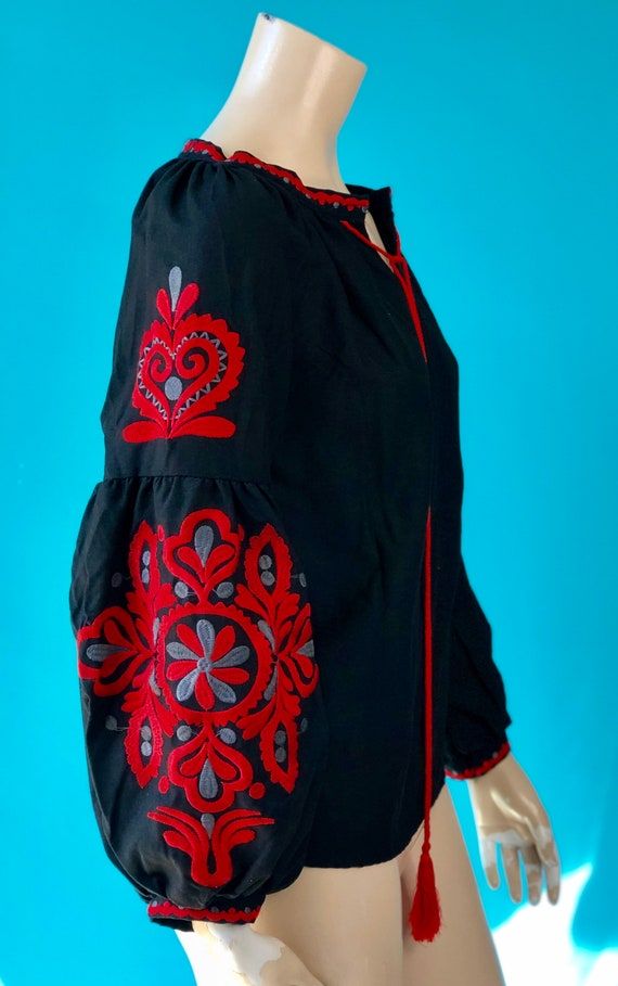 Vintage 70s DeadStock Ethnic Embroidered Vyshyvank