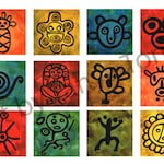 Taino Symbols Greeting Card
