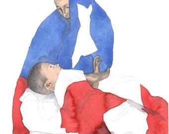 Madre Patria- Puerto Rican Art and Puerto Rican Flag Art Print
