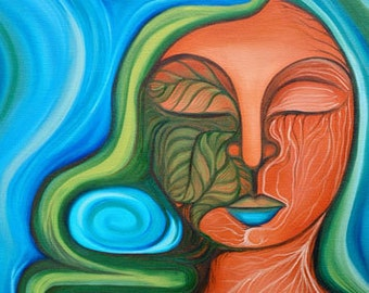 Cacibayagua-Taíno Mythology, Taino Goddess, Taino Art, Art Prints