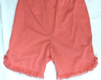 Vintage 1950s 1960s Coral Orange Vanity Fair Tap Pants   Bloomers   Panties     Small Medium    Vintage Lingerie   Nylon with Lace Trim a14a71b96