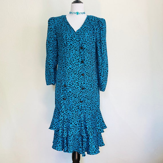 Vintage 1980s Maggy London by Jeannene Booher 100%