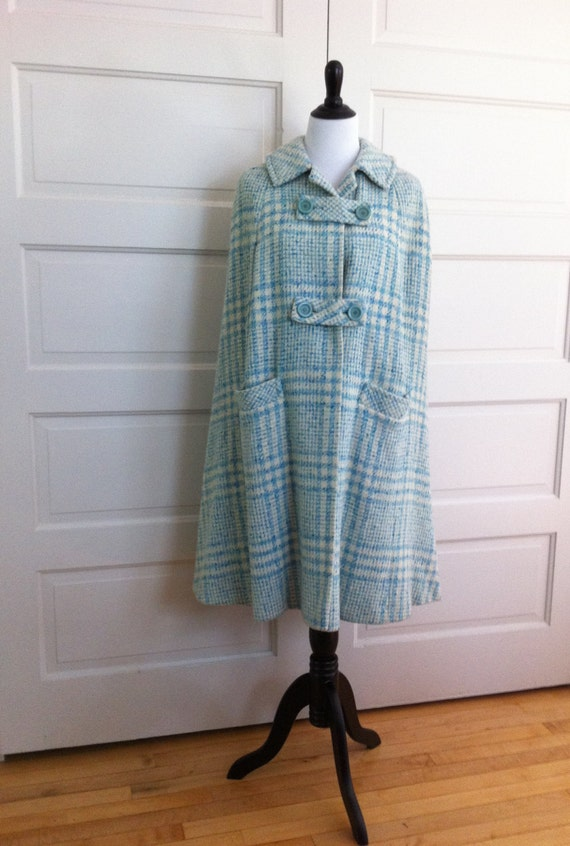 Vintage 1960s Cape Skirt Suit Set // Designer Mode