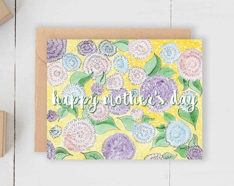 Happy Mother's Day Floral Card // Luxury Designer Pretty Mother's Day Card // Spring May June Flowers