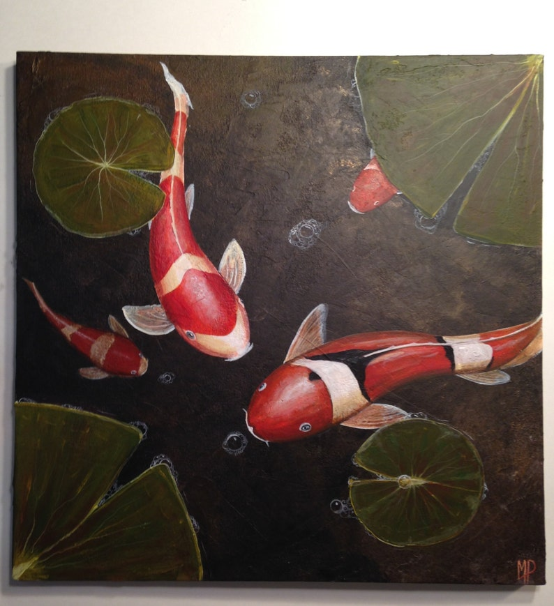 Zen Koi Fish Painting Our Timeby Michael H. image 0