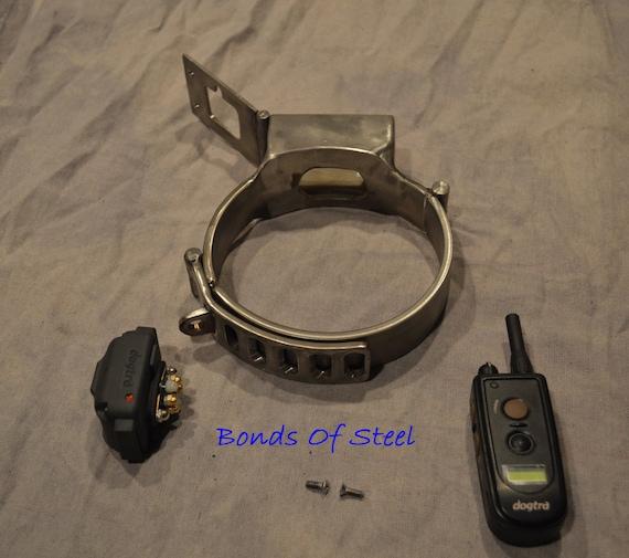 stainless steel shock collar bdsm bonds of steel mature etsy