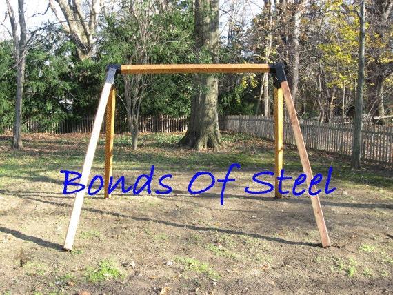 Angled Leg 4x4 Wood Post Angle Brackets Bonds Of Steel Mature Etsy