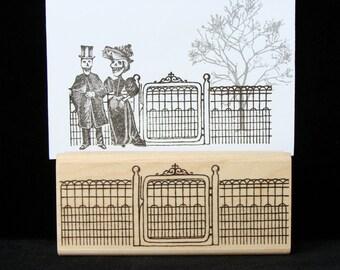 wire garden gate