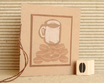 coffee bean rubber stamp