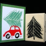 pine tree rubber stamp