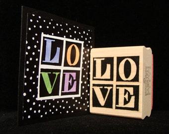 love in block letters