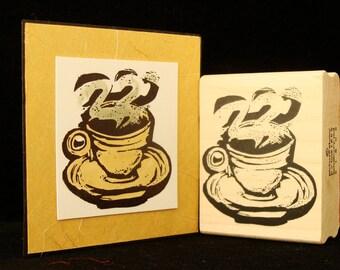 retro hot coffee cup