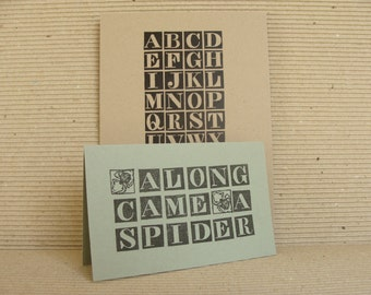 alphabet no.1 (medium) unmounted rubber stamp