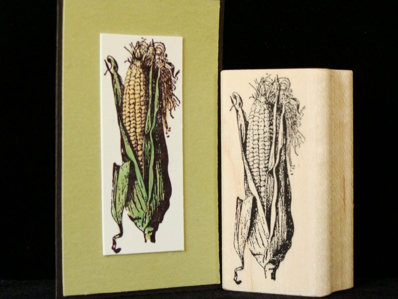 picture show rubber stamp ear of corn image 0