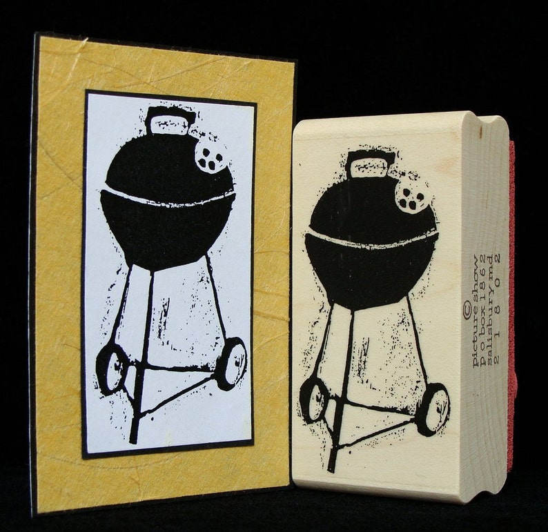 charcoal grill rubber stamp image 0