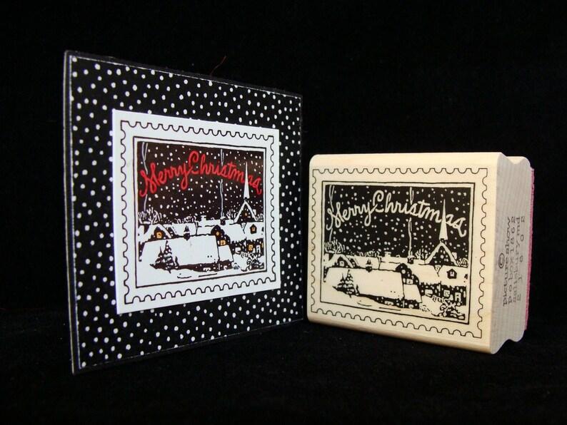 Christmas rubber stamp  Christmas postage image 0