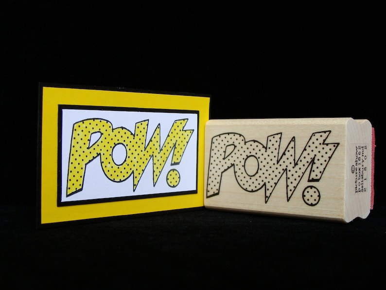 cartoon rubber stamp pow image 0