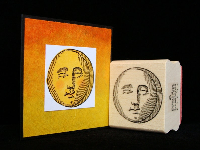 sun or moon rubber stamp image 0