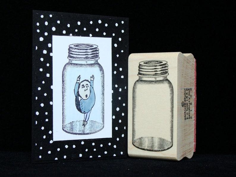 jar rubber stamp image 0