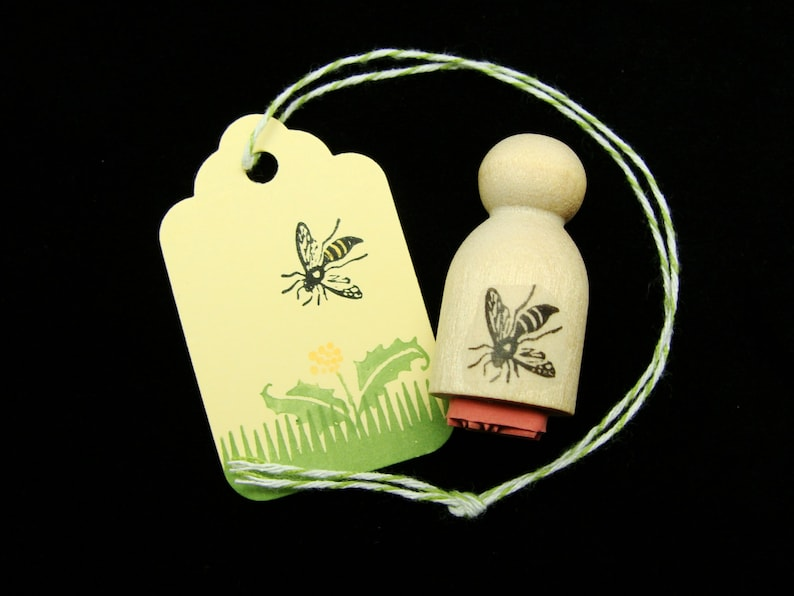 very tiny bee  rubber stamp image 0