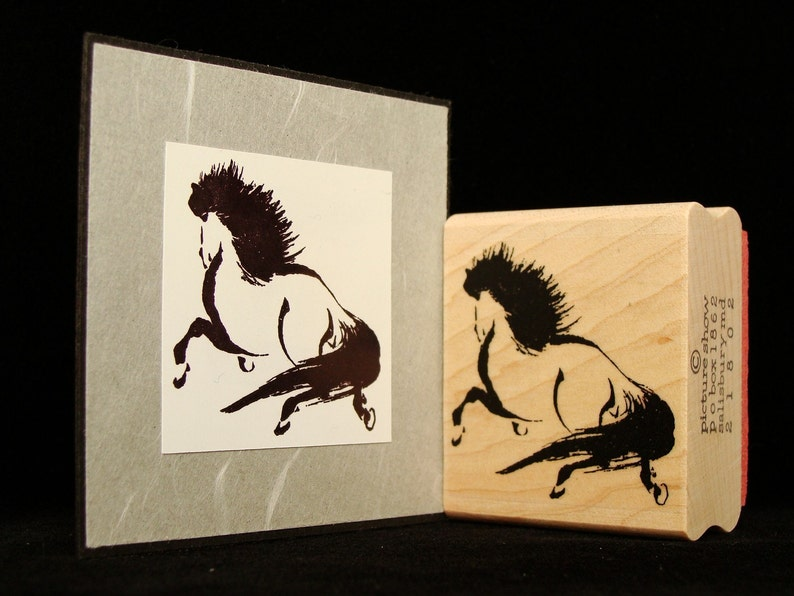 asian horse rubber stamp image 0