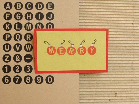 alphabet no. 4   unmounted rubber stamp