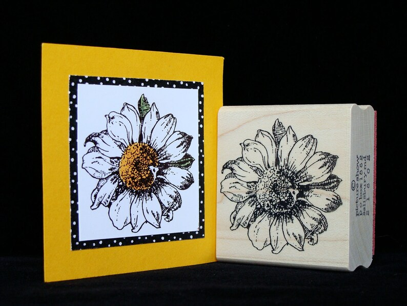 daisy rubber stamp image 0