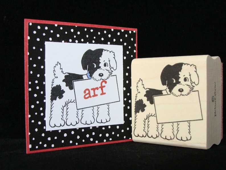 picture show rubber stamp sign dog image 0
