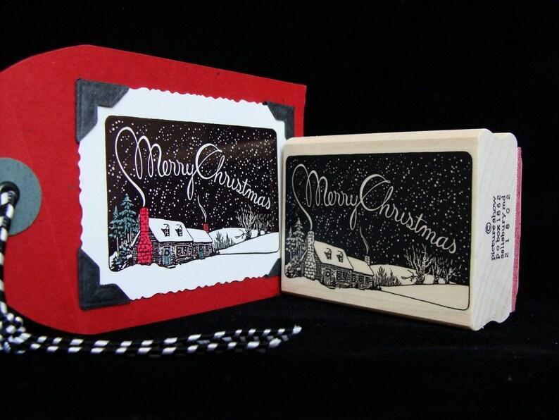 Christmas rubber stamp  Christmas sky image 0