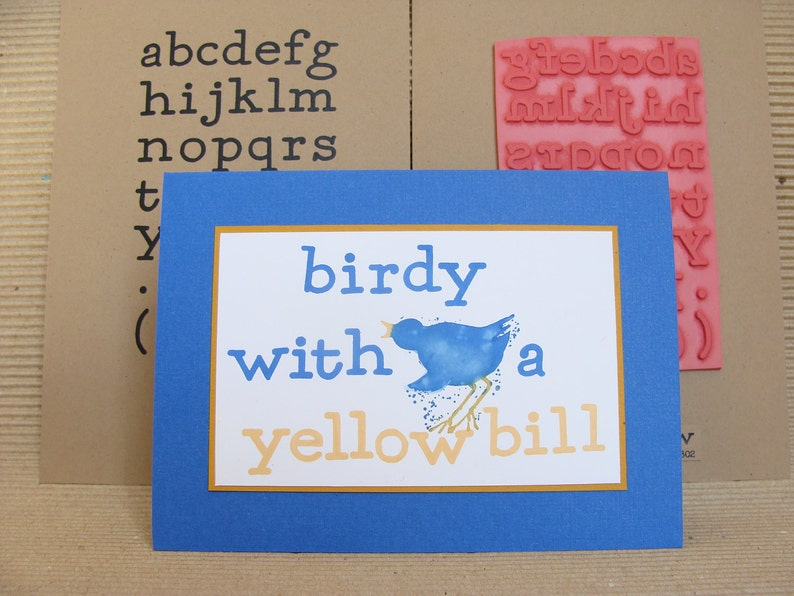 alphabet no.2 small  unmounted rubber stamp image 0