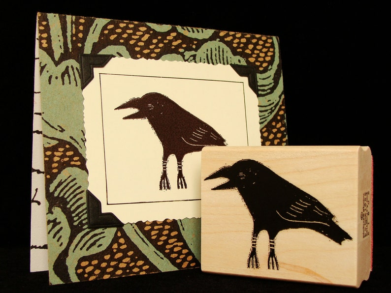 crow rubber stamp image 0