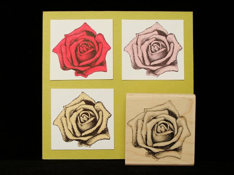 rose rubber stamp image 0