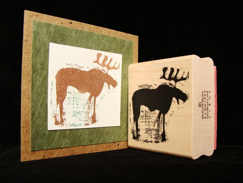 pictureshow rubber stamp moose image 0