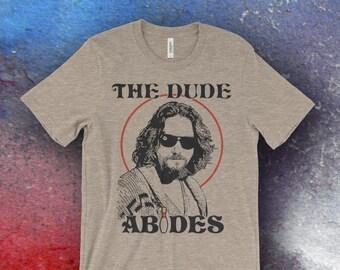The Big Lebowski Inspired The Dude Abides Bella + Canvas Screen Printed T-Shirts