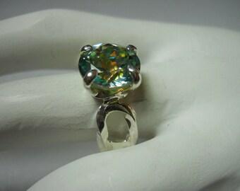 Peridot Crush Mystic Topaz Ring