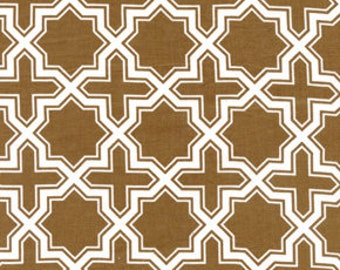 BTY - Joel Dewberry - Modern Meadow - Nap Sack in Timber - brown white lattice trellis print - cotton quilting fabric