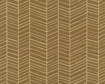 END of BOLT - 1 yard plus 15 inches - Joel Dewberry - Modern Meadow - Herringbone in Timber - cotton quilting fabric - REMNANT