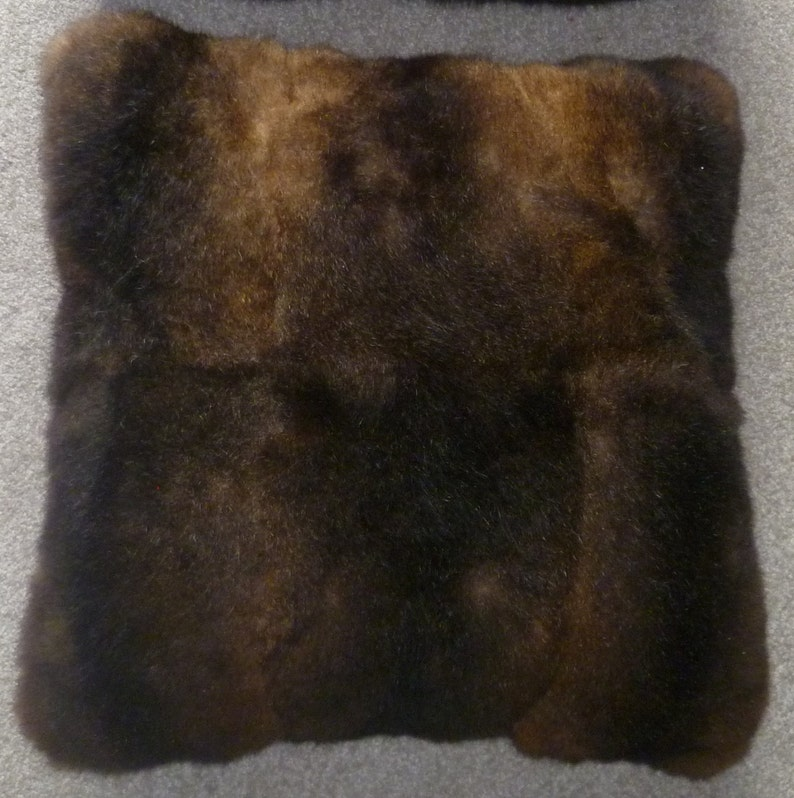 9502d935fdf New Zealand Possum Fur Natural Brown or Grey Medium Cushion
