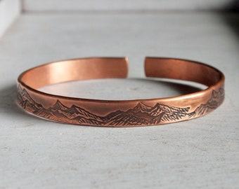 Brown Bracelet 100/% Copper Bracelet For Men 7 Year Anniversary Gift
