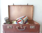 RESERVED for Sherie - VIntage Suitcase - Rustic Storage/Decor