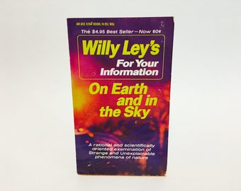 Vintage Non-Fiction Book Willy Ley's For Your Information: On Earth and in the Sky 1967 Paperback