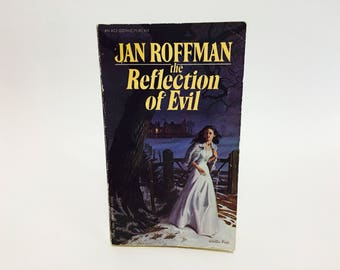 Vintage Gothic Romance Book The Reflection of Evil by Jan Roffman 1964 Paperback